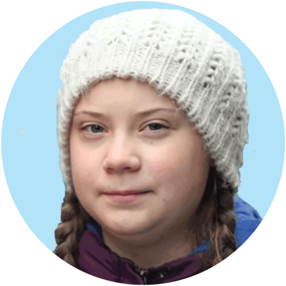 Greta Thunberg Button