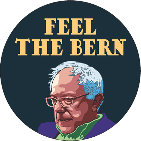 Feel The Bern Bernie Sanders Button