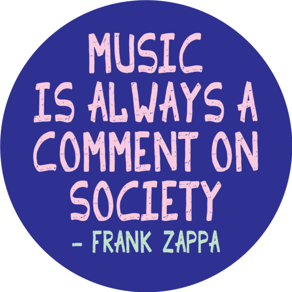 Music Frank Zappa Button