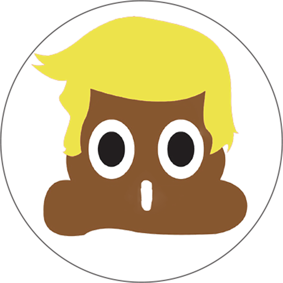 Trump Poop Emoji Button