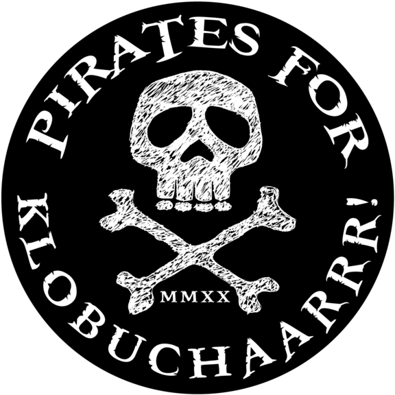 Pirates For Klobuchaarrr Button GONE