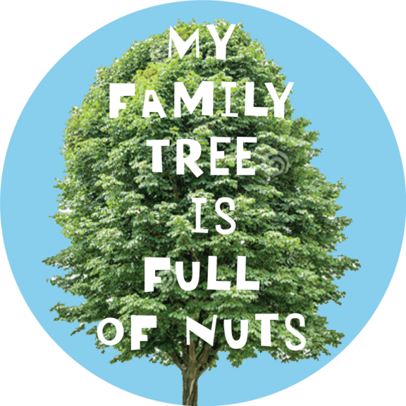 Full Of Nuts Button