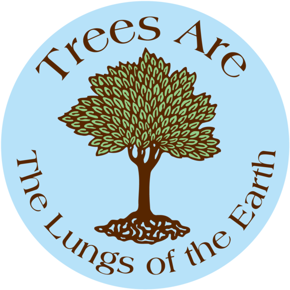 Trees Lungs Earth Button