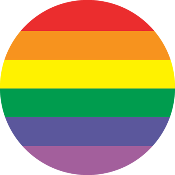 Rainbow Stripes Button