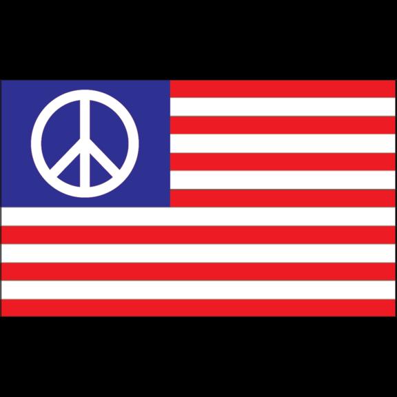 USA Peace Sign Flag 3' x 5'
