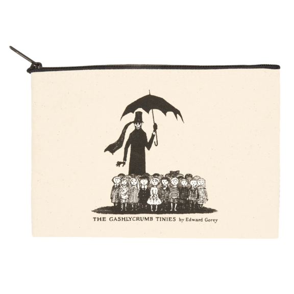 Edward Gorey Zipper Pouch