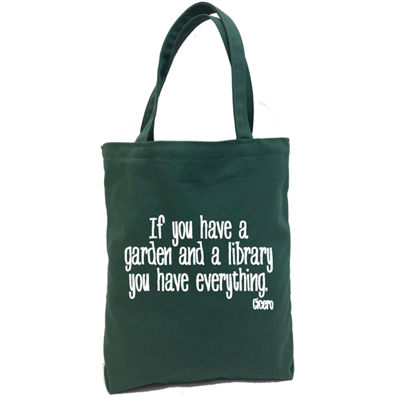 Garden And Library Tote Bag