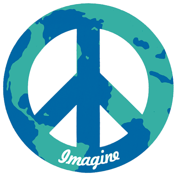 Imagine World Peace 4 Inch Magnet