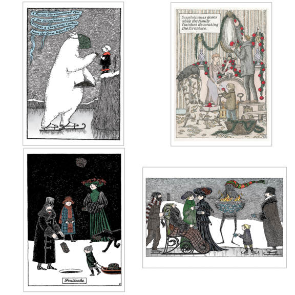 Ed Gorey Assorted 20 Note Card Set