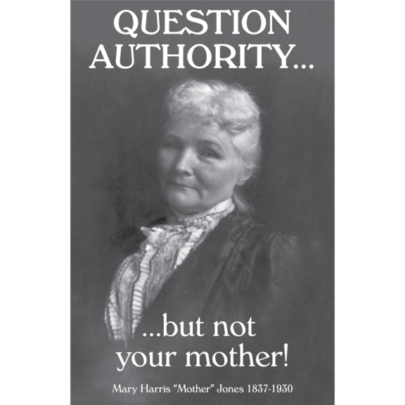 Question Authority Not Mother Magnet