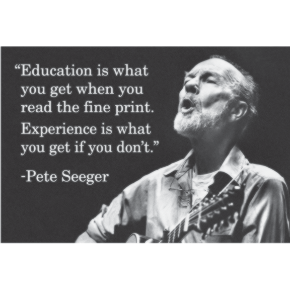 Education Is What You Get Seeger Magnet