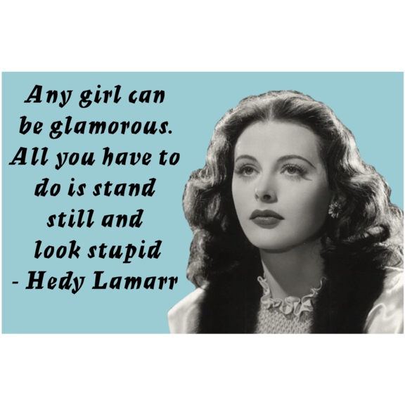Glamorous Hedy Lamarr Magnet