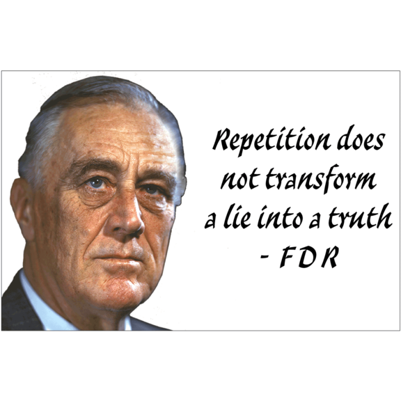 Lie Into A Truth FDR Magnet
