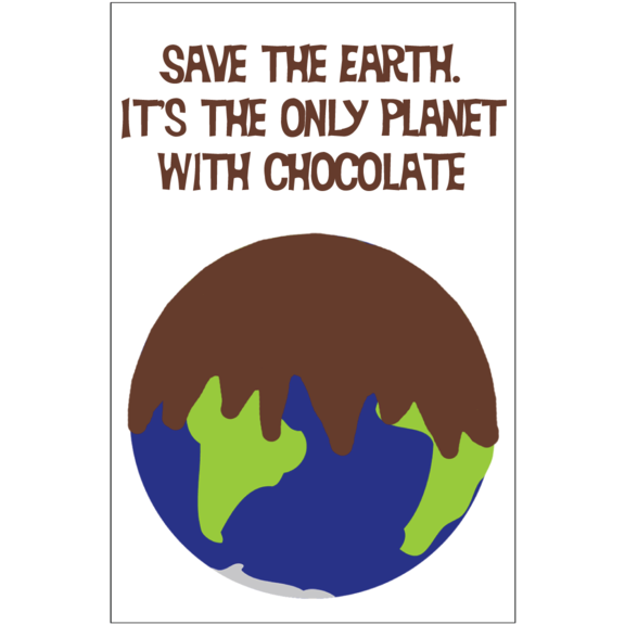 Save The Earth Chocolate Magnet