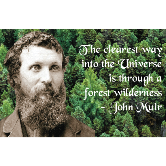 Clearest Way John Muir Magnet