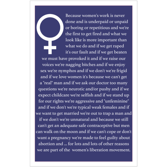 Because Women's Liberation Poster