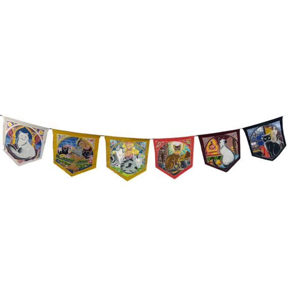 The Cat Magic Goddess Flags Banner.