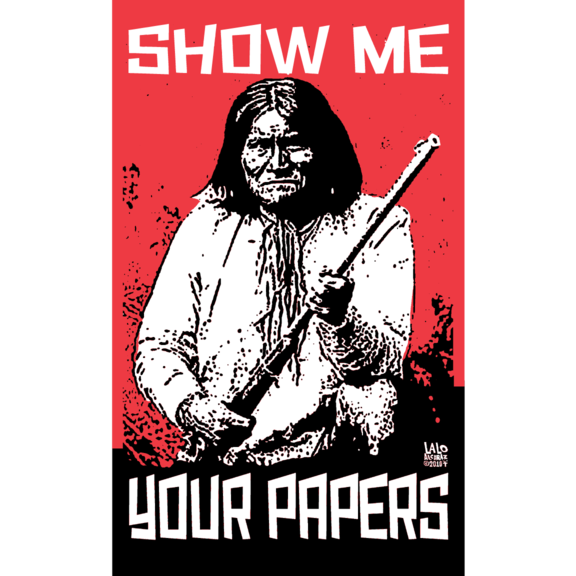 Show Me Papers Geronimo Sticker