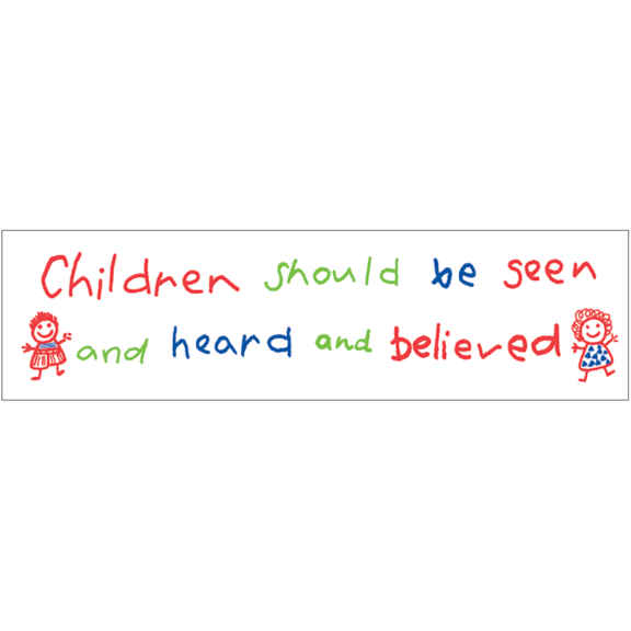 Children Should Be Seen Bumper Sticker