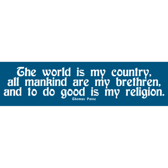 The World Is My Country Bumper Sticker