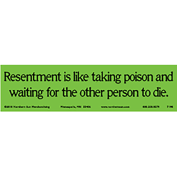 Resentment Bumper Sticker
