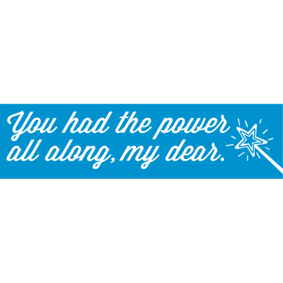 You Had The Power Al Along Bumper Sticker