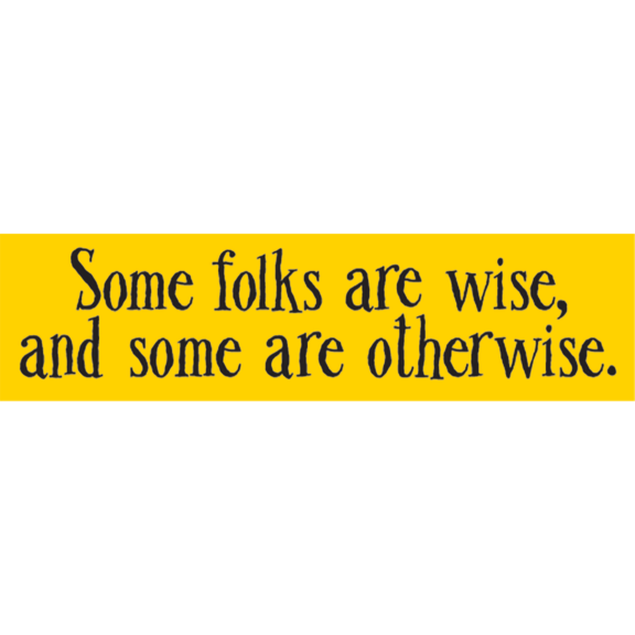 Some Folks Are Wise Bumper Sticker