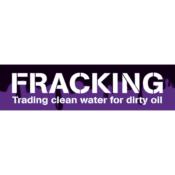 Fracking Clean Water Dirty Oil Bumper Sticker