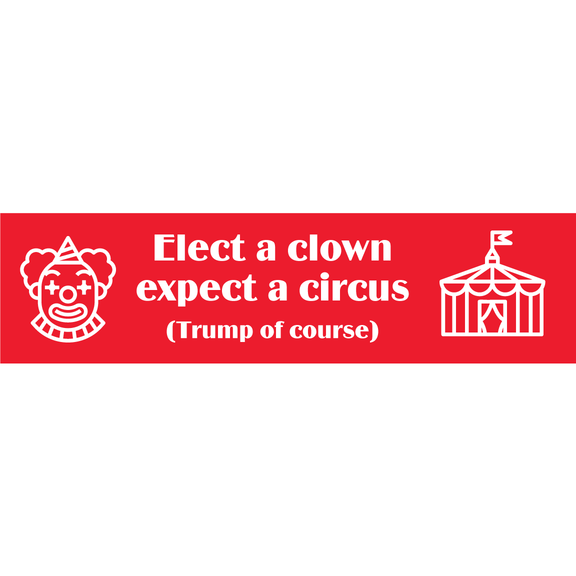 Elect A Clown Expect A Circus Bumper Sticker