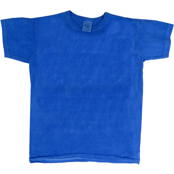 Closeout Blank Organic Blue T-Shirt
