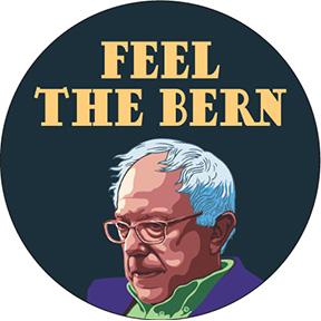 Feel The Bern Bernie Sanders Button