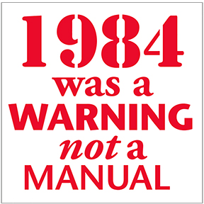 1984 Warning Sticker