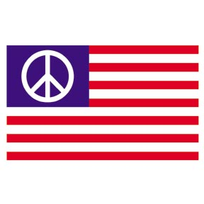 Usa Peace Sign Flag 3 X 5