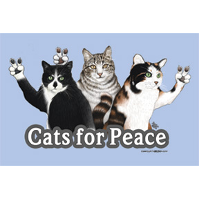 Cats For Peace 2x3 Magnet