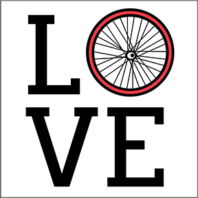 Love Bicycle Sticker