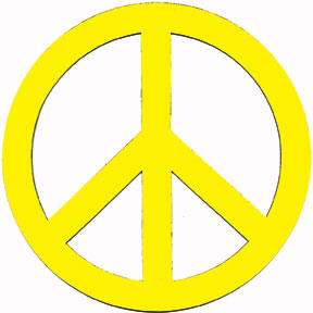 "8"" Peace Sign Magnet"