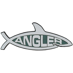 Angler Shark Car Emblem