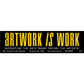 Artwork Is Work Bumper Sticker