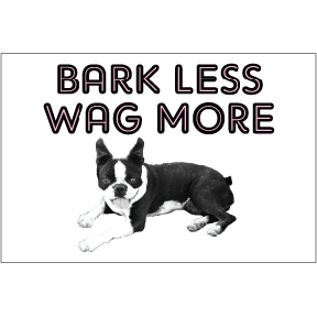 Bark Less Wag More 2x3 Magnet
