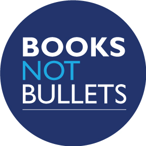 Books Not Bullets Button