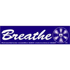 Breathe Bumper Sticker