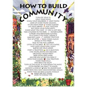 Build Community 6 Note Card Set