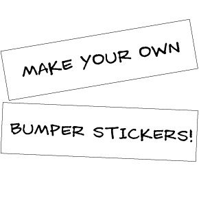 Bumper Sticker Blank