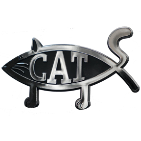 Cat Fish Car Emblem