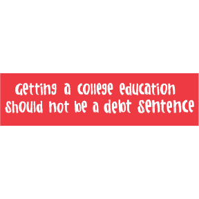 College Debt Bumper Sticker