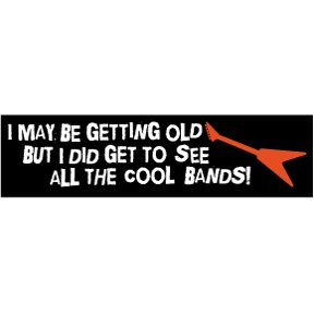 Cool Bands Bumper Sticker