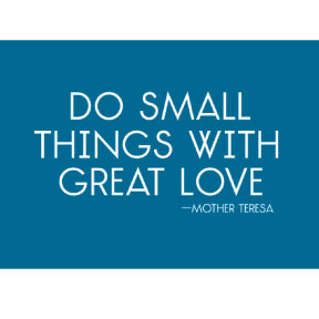 Do Small Things Mother Teresa 2x3 Magnet