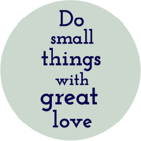 Do Small Things Mother Teresa Button