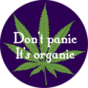 Don't Panic It's Organic Button
