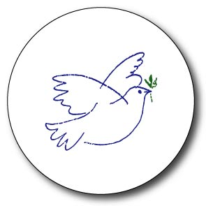 Dove Peace Button